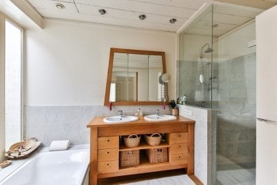 bathroom finishes for custom homes