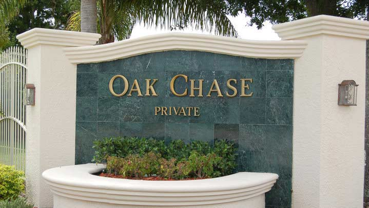 Oak Chase Neighborhood Sign